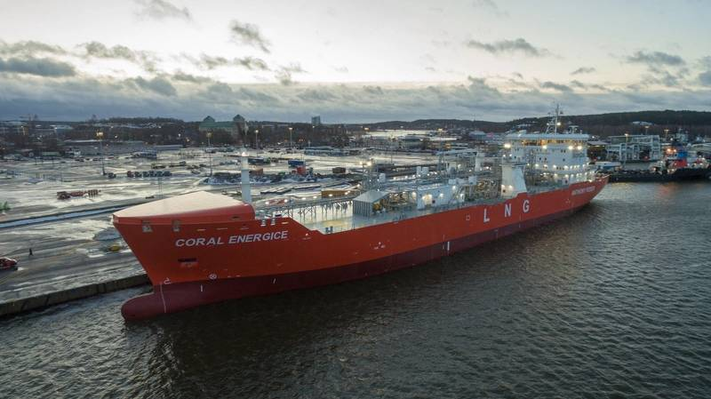 Coral EnergICE is the first liquefied natural gas (LNG) carrier to hold 1A Super ice class (Photo: Skangas)