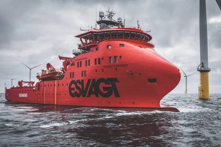 Crew comforts: The Esvagt Faraday (Photo: Siemens Gamesa)
