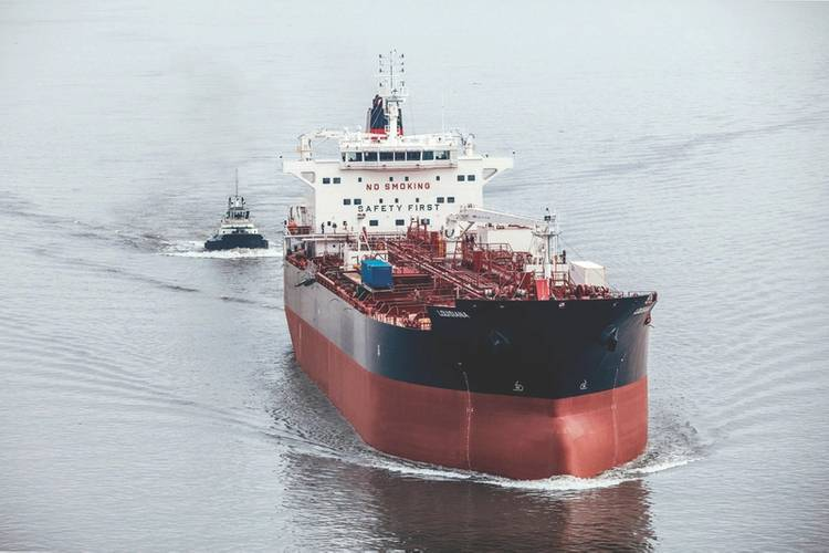 Crowley Maritime Corp. recently took delivery of Louisiana, the third of four new, Jones Act product tankers being built for the company by Philly Shipyard, Inc. (PSI). These tankers are at the forefront of the industry for their potential future conversion to LNG propulsion. (Credit: Crowley Maritime)