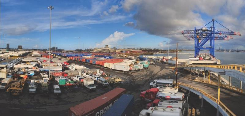 Crowley & Puerto Rico: When Hurricane Maria devastated Puerto Rico, Crowley responded in force (above) to start the recovery. (Image: © 2017 Crowley Maritime Corporation)