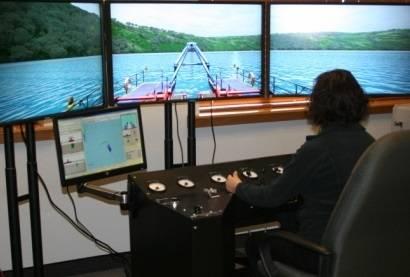 "Cutter dredge simulator with three 42"" (107 cm) screens"