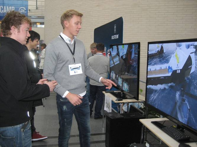 Decision time:  High school students simulate  offshore job hunt.
