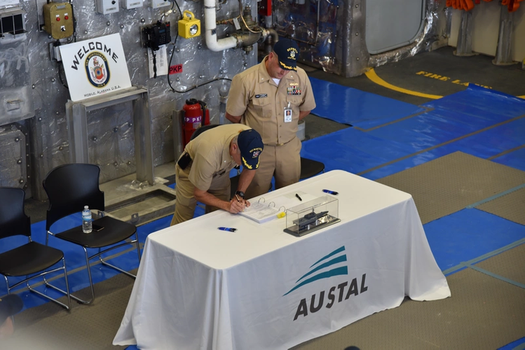 Delivery of the future USS Montgomery (LCS 8) (Photo: Austal)