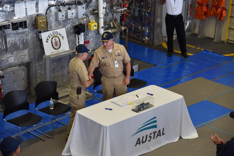 Delivery of the future USS Montgomery (LCS 8) Photo Austal