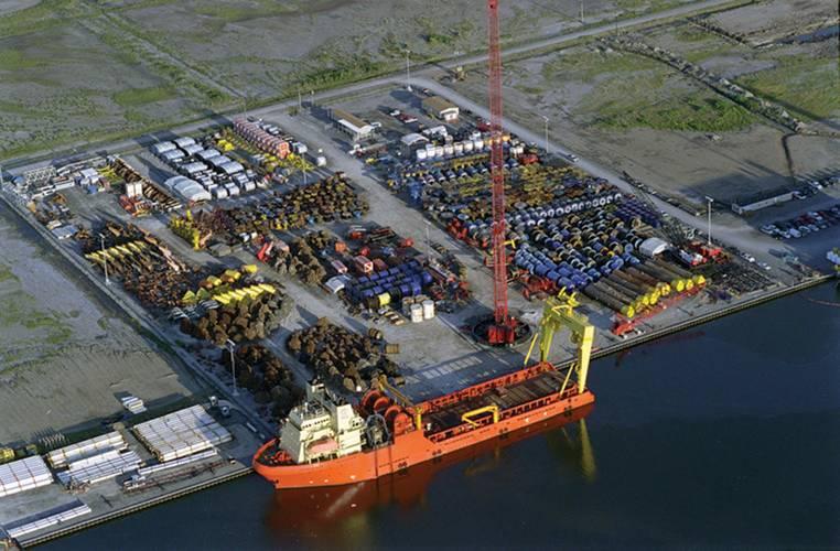 Delmar shore facility at Port Fourchon. (Courtesy of Delmar)