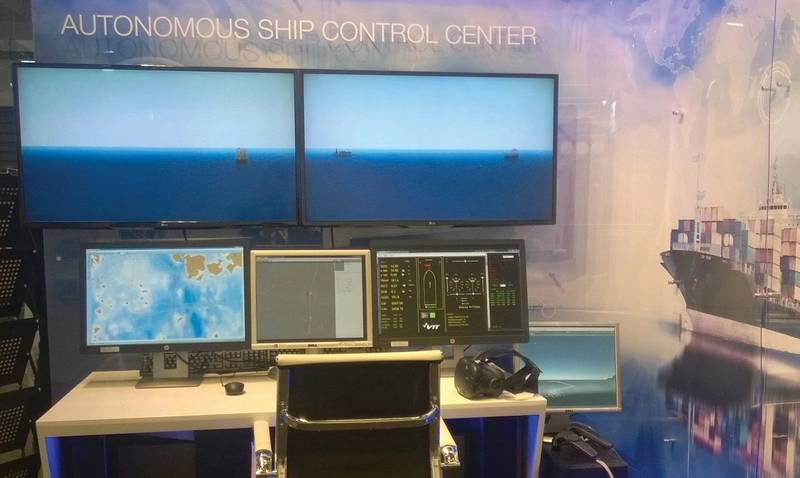 Demo: control room for an autonomous ship. (Image: VTT Technical Research Center of Finland)