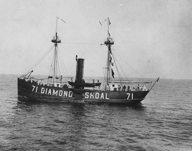 Diamond Shoals Lightship LV-71 (Credit: NOAA)