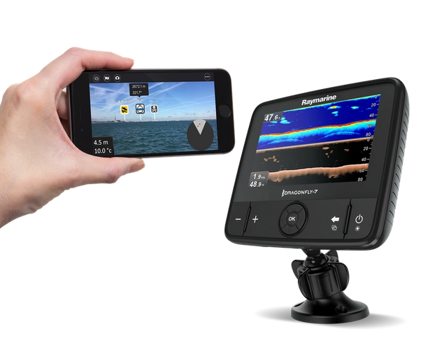 Dragonfly Pro and AR App Photo Raymarine