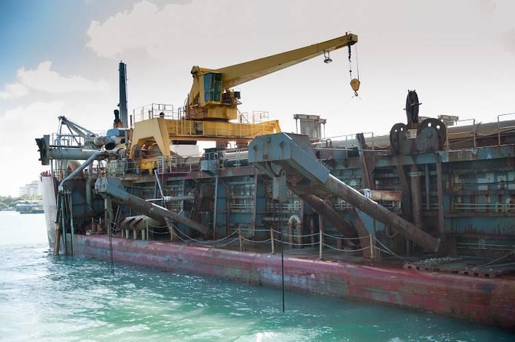 Dredger in PortMiami (Photo: Port Miami)