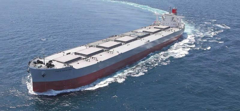 """Dry bulk carriers are the majority (195 ships/25.3 million DWT) of the """"K"""" Line fleet. Photo: """"K"""" Line"""