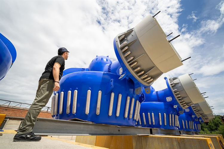 Each of the Wärtsilä thrusters for Sleipnir is rated for 5.5 MW power. (Photo:  Wärtsilä)