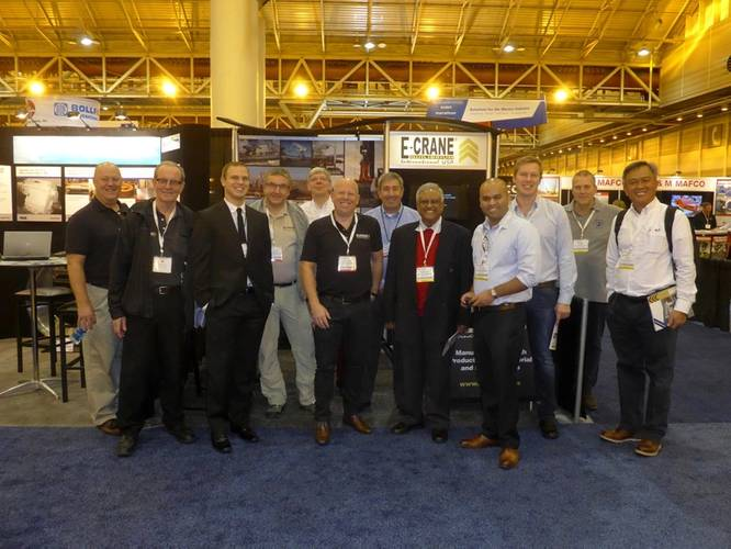 E-Crane was well represented at the WorkBoat Show. (Photo: E-Crane)