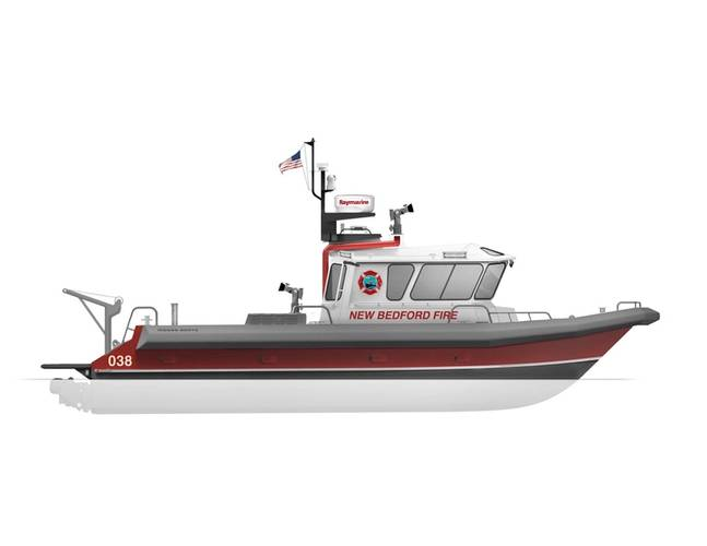 Emergency Response and Recovery Vessel to be built for the New Bedford Fire Department (Image: Moose Boats)