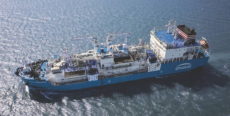 Engie Zeebrugge is the first purpose built LNG bunkering vessel (Photo: ENGIE)