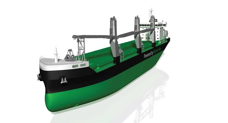 ESL Shipping's two new bulk carriers are intended dfor Swedens SSAB's inbound raw material sea transports within the Baltic Sea and from the North Sea. The autonomous cranes have been developed by MacGregor