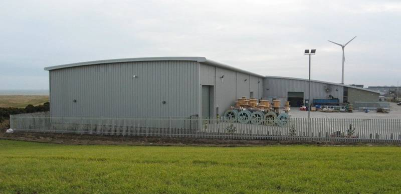 Exterior of Hydro Group new £2million, 13,700 sq ft bespoke facility at Aberdeen Energy Park Photo Hydro Gtoup