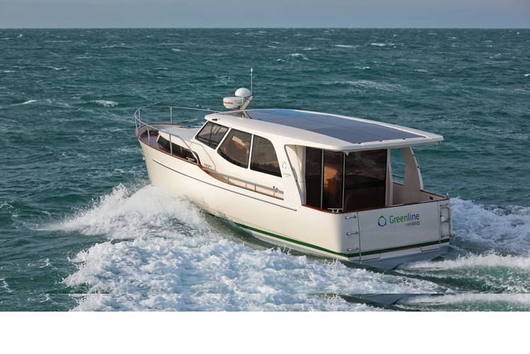 f longer travel is in your plans, the Greenline 33 is the largest hybrid powerboat on the market today.
