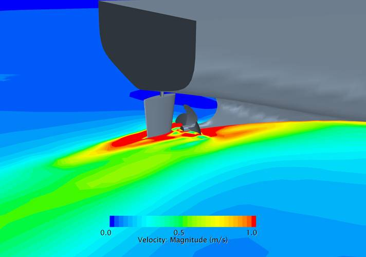 Figure 7: Velocities at depth of shaft during steady turning.