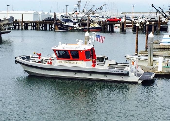 Fire Rescue Catamaran for the Bellingham Fire Department (Photo: Moose Boats)
