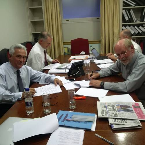 Francis Portelli of Virtu Ferries (left), and Robert Clifford of Incat (right) at the contract signing in Malta (Photo: Incat)