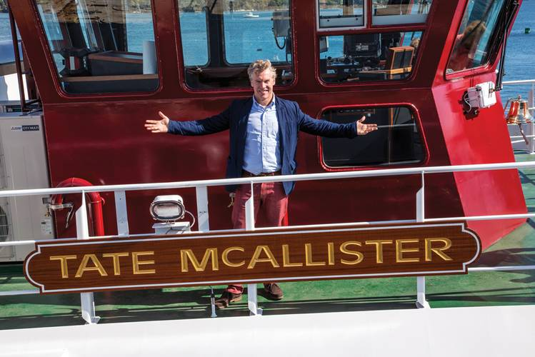 From Maine   to Hollywood  Tate McAllister is significant for  a number of reasons. It was the company's first boat built at Washburn & Doughty in Maine; it is the third newbuild to join the McAllister fleet in 2014; and it is  named for actor Tate Buckley Donovan (pictured), a first cousin to the McAllister family. Donovan is known for his role in the FX drama Damages as Tom Shayes, and for his role as Jimmy Cooper in the American teen drama television series The O.C., as well as a long list of