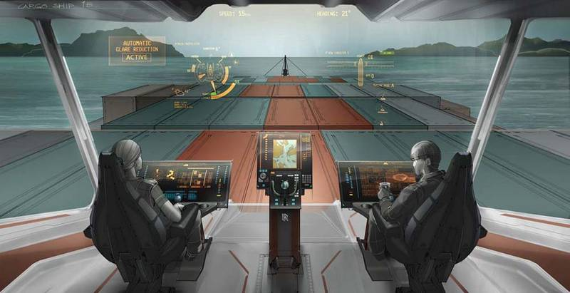 Future Bridge studies such as those made by VTT and Rolls-Royce use same intelligent sensor monitoring technologies which will be needed for unamanned ships.