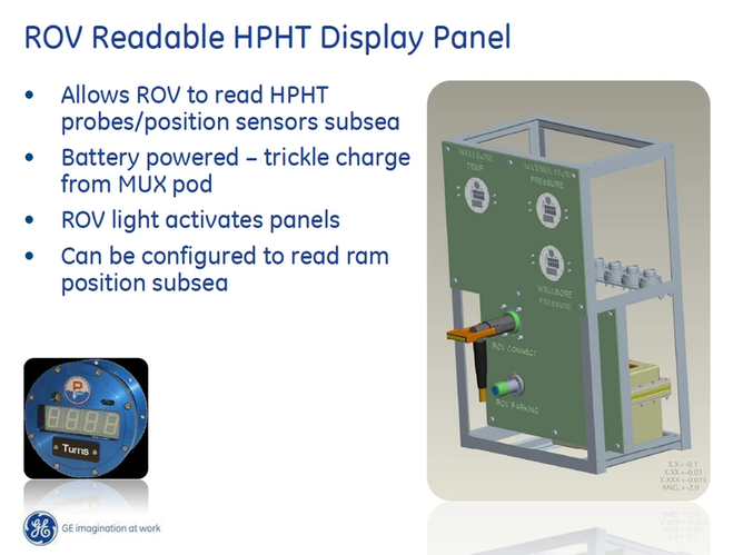 GE Oil & Gas ROV Subsea Display Panel