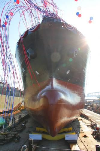 General Dynamics NASSCO christened and launched tanker Constitution on Saturday, August 27, 2016 (Photo: General Dynamics NASSCO)