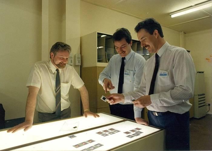 Geoff Binks with directors in the 1980s (Photo: Belzona Polymerics Ltd.)