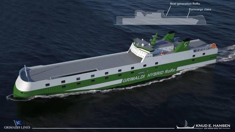 Grimaldi Green 5th Generation RoRo designed by KNUD E. HANSEN Denmark (Photo: Knud E. Hansen.)