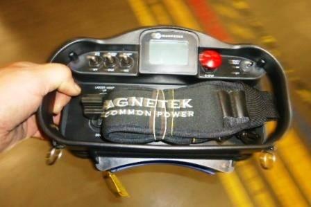 Handheld remote with shoulder strap (Photo: EDT)