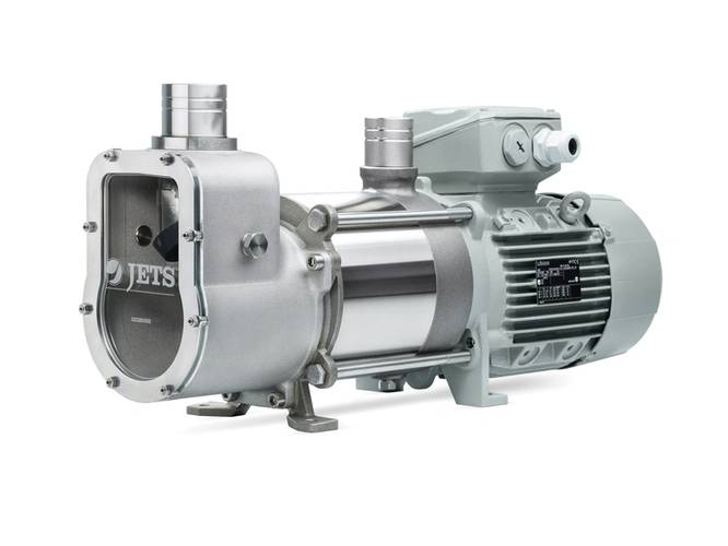The very-low-water-consumption Jets Edge can be used in ships, yachts, cabins, and trains: anywhere a compact, high-capacity and low-energy sanitary system using a minimum of water is needed. Photo: Jets