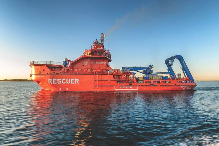 High-tech rescue vessel BERINGOV PROLIV built by Nordic Yards intended for use in the arctic. (Photo: Nordic Yards)
