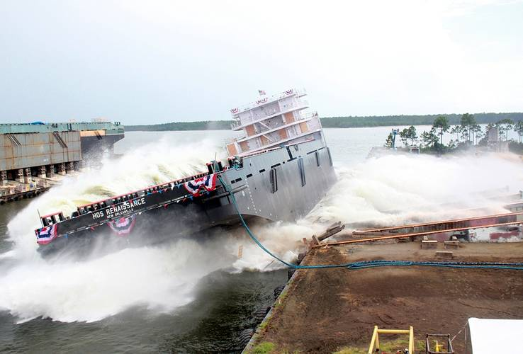 HOS Renaissance launch: Image courtesy of Eastern Shipbuilding Group