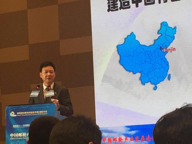 Hu Xiang Chairman Tianjin Xingang Shipbuilding. Photo: Greg Trauthwein