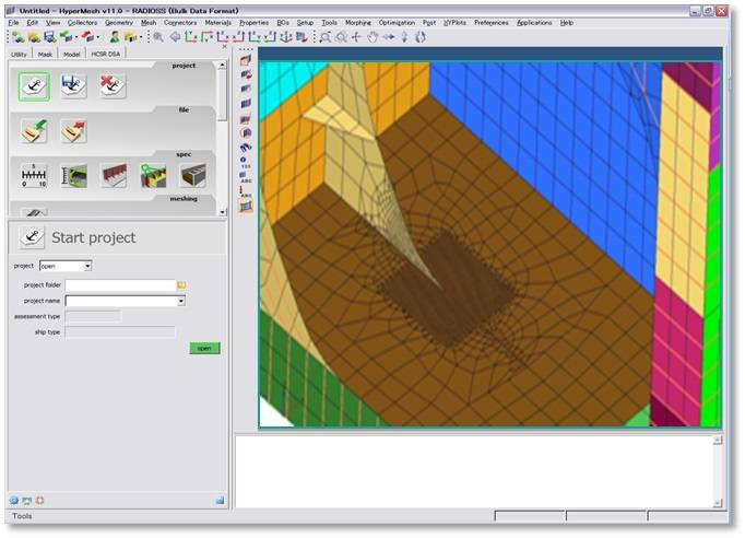 HyperWorks Based FE Analysis software. Photo: CLassNK