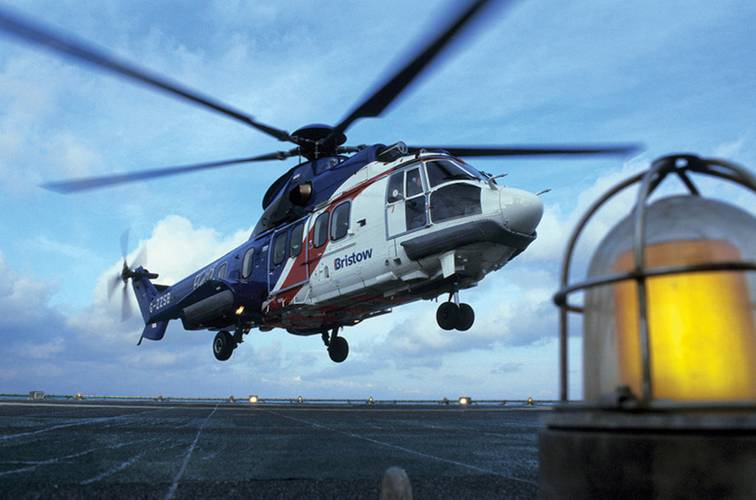 Image courtesy of Bristow Helicopter.