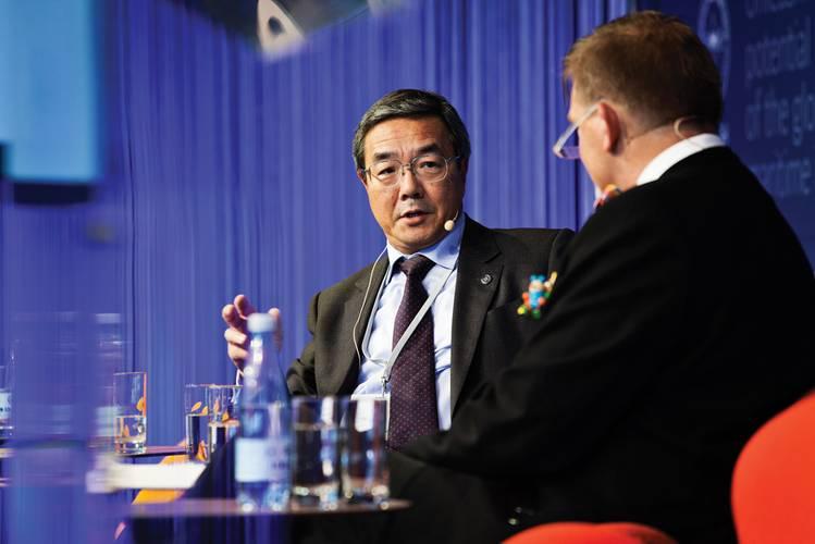 IMO Secretary General Koji  Sekimizu at the Danish Maritime Forum.