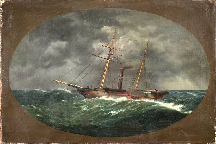 In 1852, W.A.K. Martin painted this picture of the Robert J. Walker. The painting, now at the Mariner's Museum in Newport News, Va., is scheduled for restoration. (Credit: The Mariners' Museum)