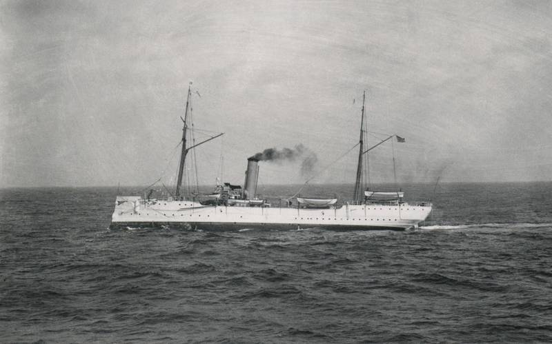 In 1914, USRC Cutter McCulloch was ordered to Mare Island Navy Shipyard where the cutter's boilers were replaced, the mainmast was removed and the bowsprit shortened. In 1915, McCulloch became a US Coast Guard Cutter when the US Revenue Cutter Service and US Life-Saving Service were combined to create the United States Coast Guard. (Credit: Gary Fabian Collection)