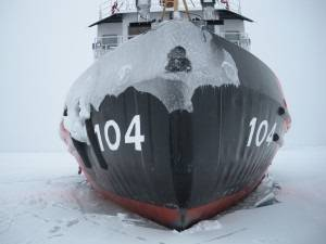 In just 44 days, the Surface Forces Logistics Center restored an incapacitated Coast Guard asset to a fully functional ice-breaking tug. U.S. Coast Guard photo.