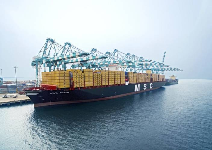 Introduced in 2015, the 19,224 TEU MSC Maya is a member of MSC's Oscar Class supersize containerships (Photo: MSC)