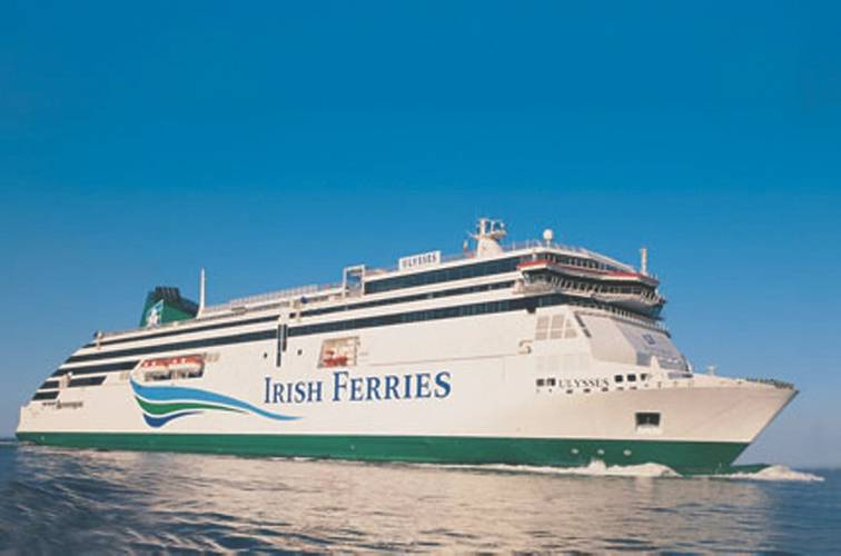 Irish Continental Group plc (ICG) new cruise ferry will accommodate 1,800 passengers and crew, with capacity for 5,610 freight lane meters, which provides the capability to carry 330 freight units per sailing. (Photo courtesy ©Irish Ferries)