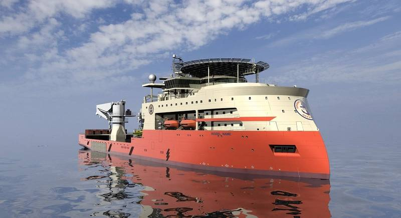 Island Ventures II LLC orders two large offshore construction vessels from Ulstein, one for construction at Ulstein Verft, one for construction in the U.S. (Illustration courtesy: Ulstein Group)