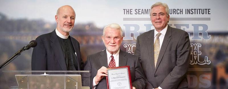 J. Russell Flowers receives the River Legend Award (Photo: SCI)