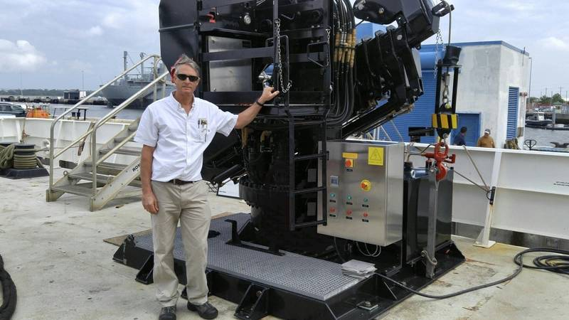 Jake Dupont and one of his Melcal Cranes