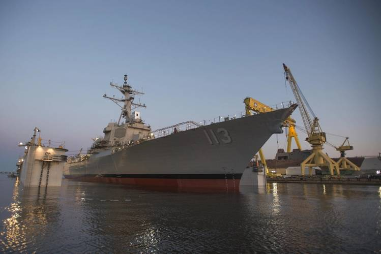John Finn (DDG 113), a Flight IIA Arleigh Burke-class ship, will provide increased capabilities over previous DDG 51 destroyers, including advances in antisubmarine warfare, command and control and antisurface warfare. (U.S. Navy photo)
