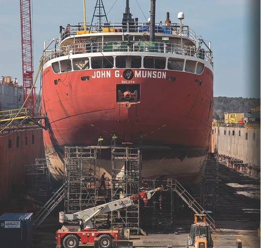 John G. Munson Conversion (Photo: Bay Shipbuilding)
