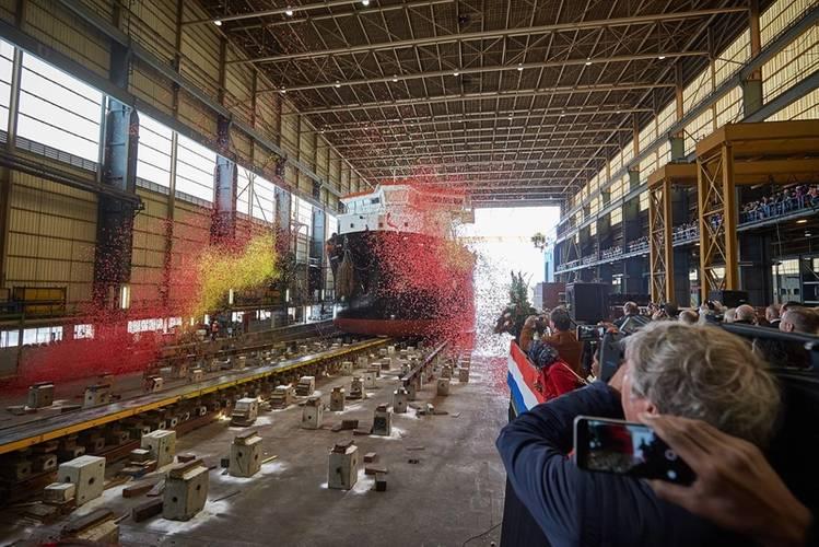 Launch of TSHD ILEMBE at Royal IHC in Kinderdijk (1)