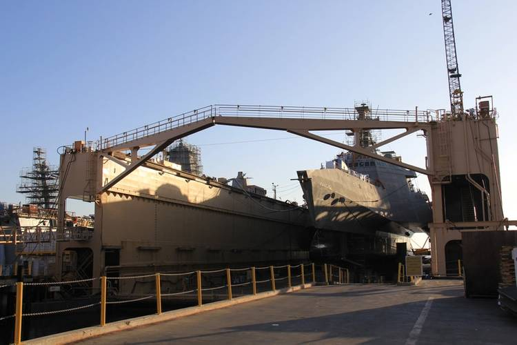 LCS12 in drydock. Photos: BAE Systems/Maria McGregor